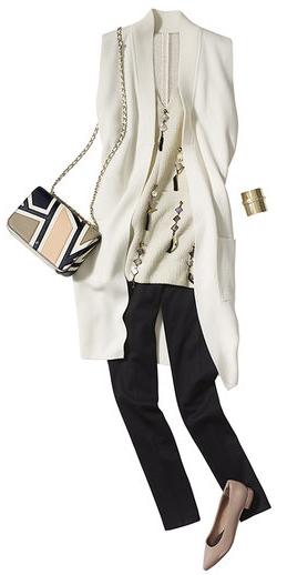 black-slim-pants-white-cami-white-vest-knit-pink-bag-bracelet-pink-shoe-flats-spring-summer-work.jpg
