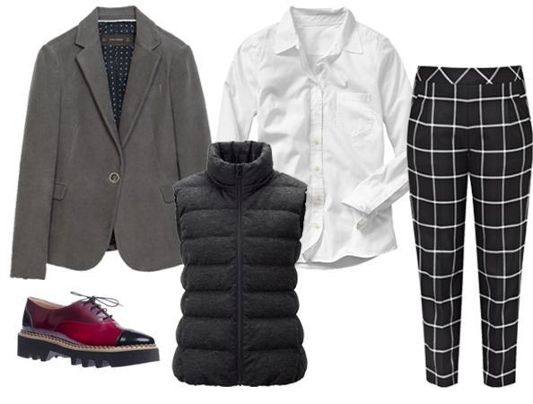 black-slim-pants-white-collared-shirt-grayl-jacket-blazer-howtowear-fashion-style-outfit-fall-winter-black-vest-puffer-basic-windowpane-red-shoe-brogues-platform-work.jpg