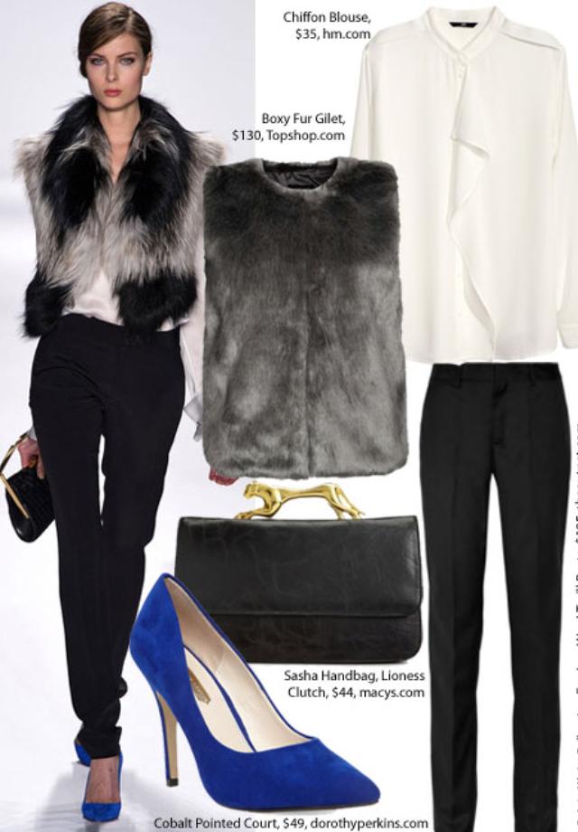 black-slim-pants-white-top-blouse-grayl-vest-fur-blue-shoe-pumps-black-bag-bun-howtowear-fashion-style-outfit-fall-winter-hairr-dinner.jpg
