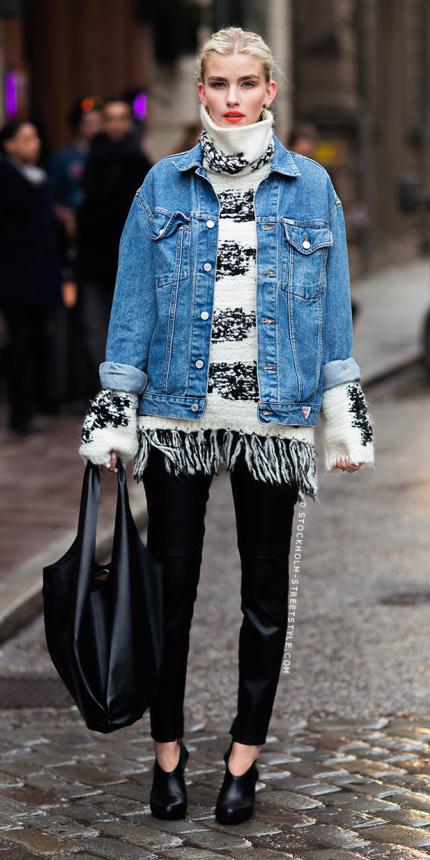 how-to-style-black-slim-pants-white-sweater-turtleneck-blue-med-jacket-jean-blonde-bun-black-bag-black-shoe-pumps-fall-winter-fashion-lunch.jpg