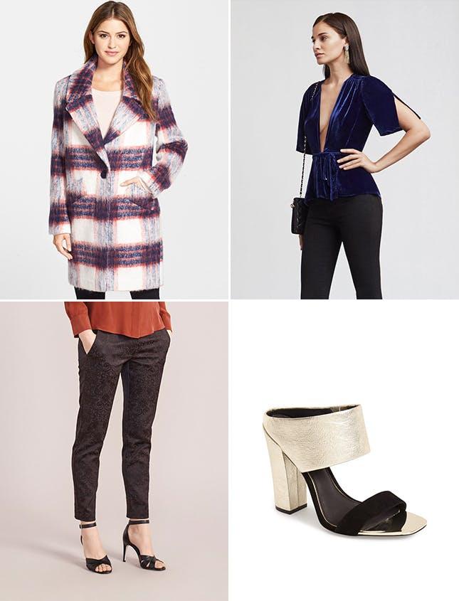 black-slim-pants-blue-navy-top-velvet-white-jacket-coat-plaid-oversized-nye-newyearseve-fall-winter-holiday-dinner.jpg