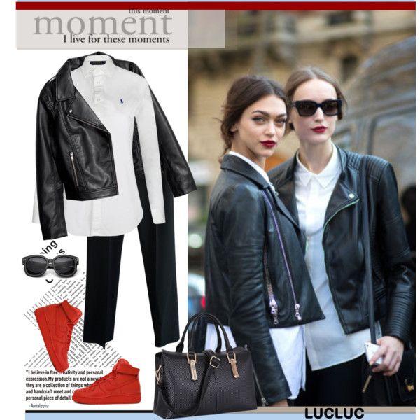 black-slim-pants-white-collared-shirt-black-jacket-moto-red-shoe-sneakers-black-bag-sun-bun-fall-winter-lunch.jpg