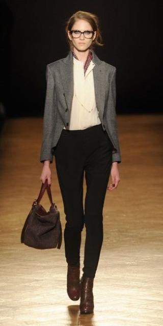 black-slim-pants-white-top-blouse-brown-bag-bun-howtowear-fashion-style-outfit-fall-winter-grayl-jacket-blazer-necklace-brown-shoe-booties-office-hairr-work.jpg
