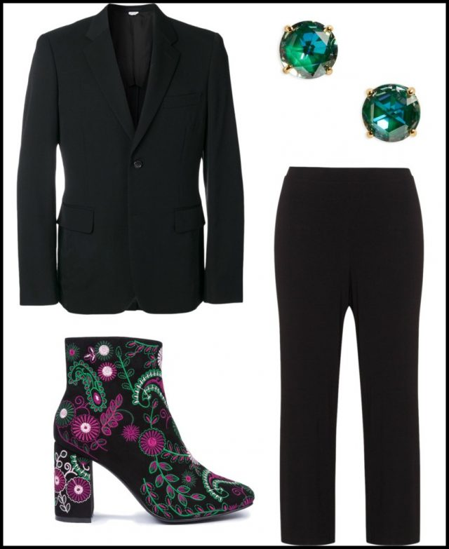 black-slim-pants-suit-black-shoe-booties-studs-black-jacket-blazer-embroidered-fall-winter-work.jpg