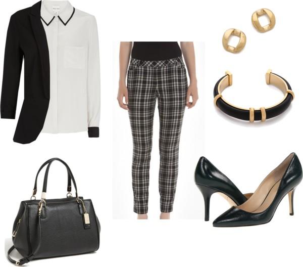 black-slim-pants-plaid-print-black-jacket-blazer-black-bag-bracelet-black-shoe-pumps-white-collared-shirt-fall-winter-work.jpg