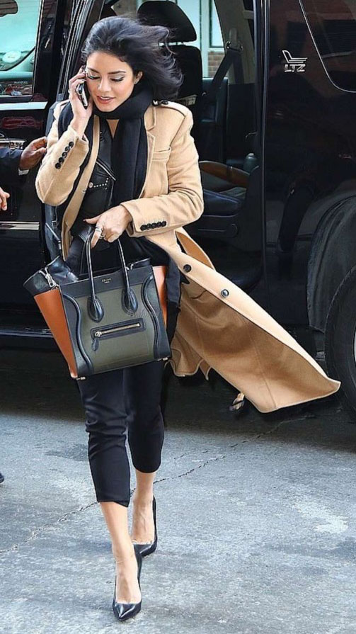 black-slim-pants-black-scarf-camel-jacket-coat-black-bag-tote-black-shoe-pumps-vanessahudgens-fall-winter-brun-work.jpg