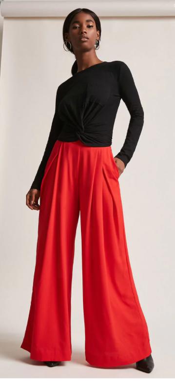 red-wideleg-pants-black-top-earrings-pony-howtowear-fall-winter-brun-dinner.jpg