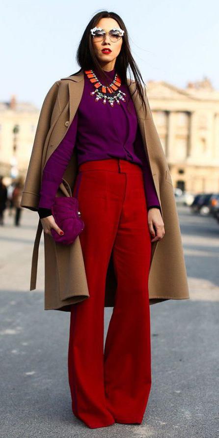 red-wideleg-pants-bib-necklace-brun-sun-camel-jacket-coat-purple-royal-top-blouse-fall-winter-dinner.jpg
