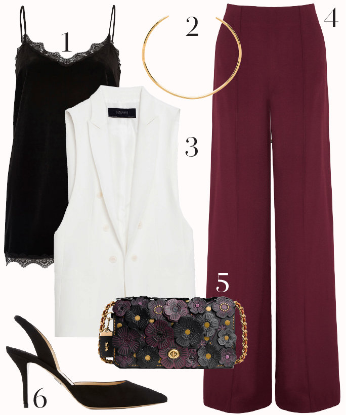 r-burgundy-wideleg-pants-black-cami-black-bag-howtowear-fashion-style-outfit-fall-winter-white-vest-tailor-black-shoe-pumps-collar-necklace-dinner-work.jpg