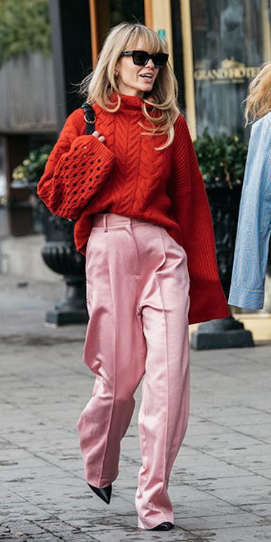 pink-light-wideleg-pants-red-sweater-blonde-sun-tonal-fall-winter-lunch.jpeg