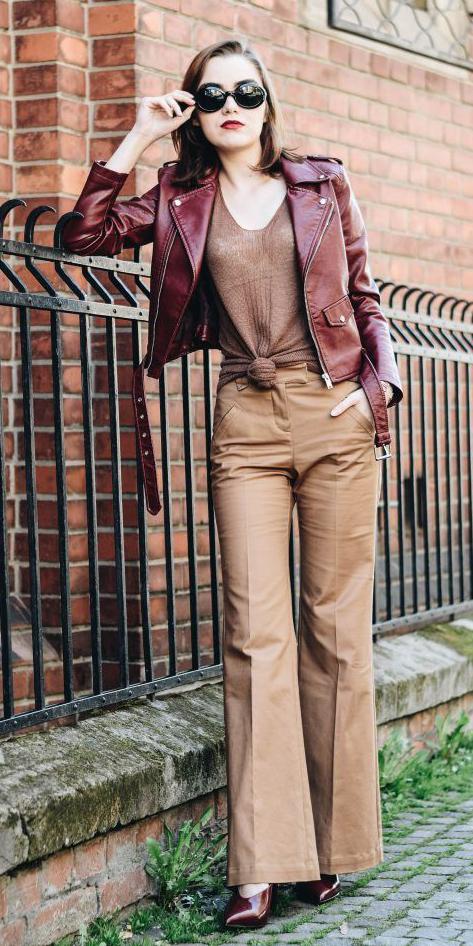 camel-wideleg-pants-brown-tee-tied-burgundy-jacket-moto-burgundy-shoe-booties-fall-winter-hairr-lunch.jpg