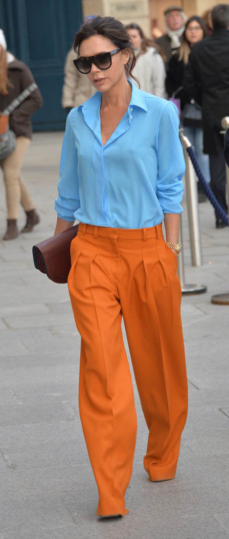 orange-wideleg-pants-blue-light-collared-shirt-sun-victoriabeckham-brun-spring-summer-work.jpg