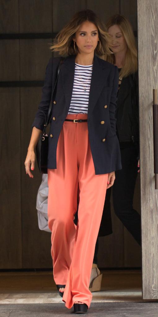 orange-wideleg-pants-blue-navy-tee-stripe-blue-navy-jacket-blazer-boyfriend-belt-black-bag-black-shoe-sandalw-spring-summer-jessicaalba-street-celebrity-hairr-lunch.jpg