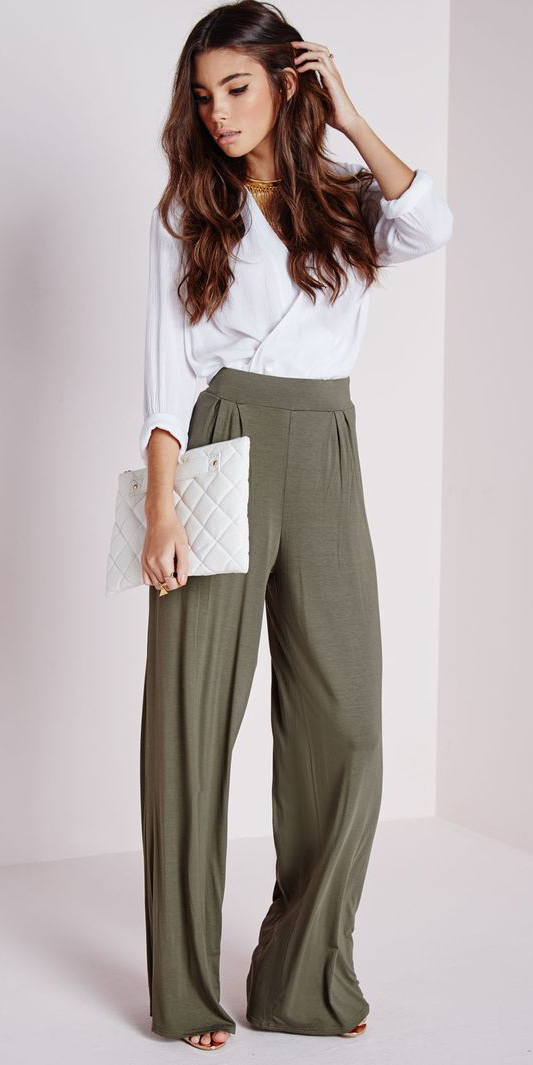 2c1c5b6ca3 green-olive-wideleg-pants-white-top-blouse-white-