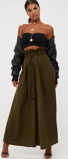 green-olive-wideleg-pants-black-crop-top-necklace-black-jacket-bomber-black-shoe-sandlah-pony-fall-winter-brun-dinner.jpg