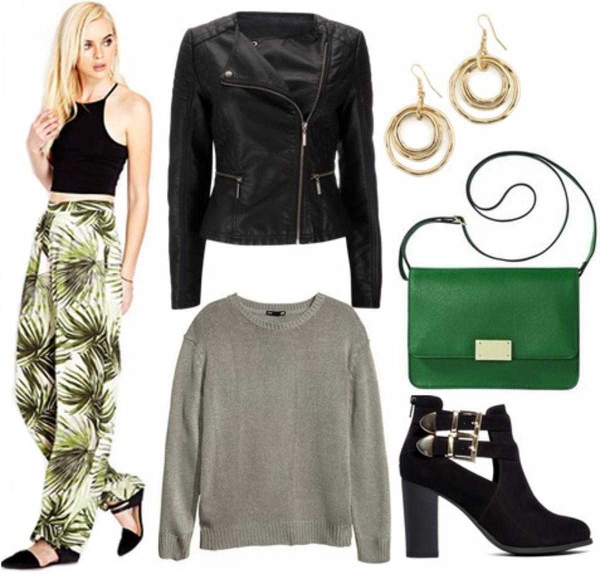 green-olive-wideleg-pants-print-grayl-sweater-black-shoe-booties-green-bag-earrings-black-jacket-moto-fall-winter-lunch.jpg