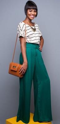 c0596c1dfc2f39 green-emerald-wideleg-pants-black-tee-stripe-cognac-