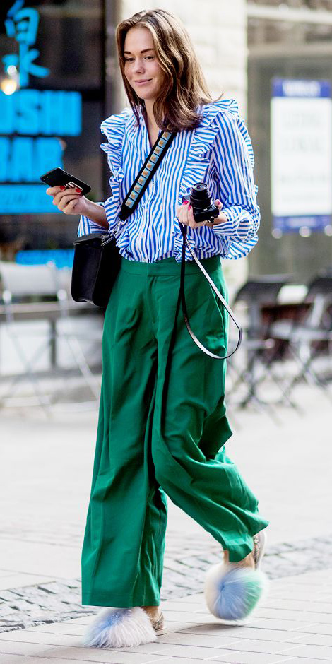 6deb0d8cf9ef3b green-emerald-wideleg-pants-blue-med-top-blouse-