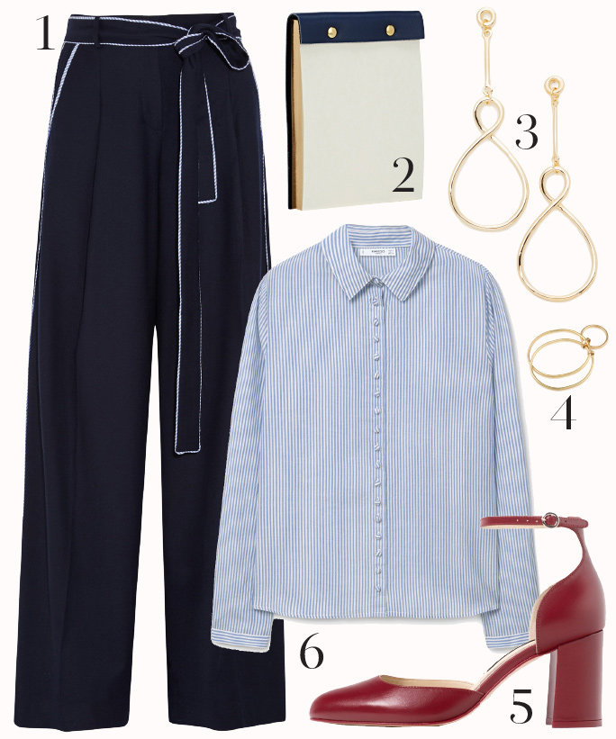 blue-navy-wideleg-pants-blue-light-collared-shirt-tie-howtowear-fashion-style-outfit-fall-winter-red-shoe-pumps-pinstripe-earrings-work.jpg