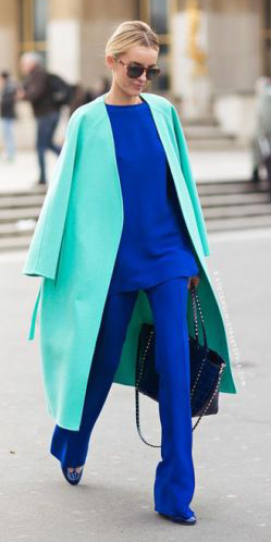 blue-navy-wideleg-pants-blue-navy-top-bun-sun-tonal-cobalt-blue-light-jacket-coat-fall-winter-blonde-work.jpg