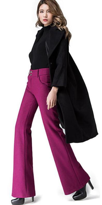 purple-royal-wideleg-pants-black-sweater-black-jacket-coat-black-shoe-booties-fall-winter-hairr-dinner.jpg