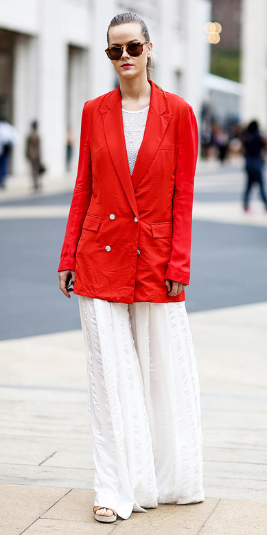 white-wideleg-pants-red-jacket-blazer-blonde-sun-bun-fall-winter-lunch.jpg