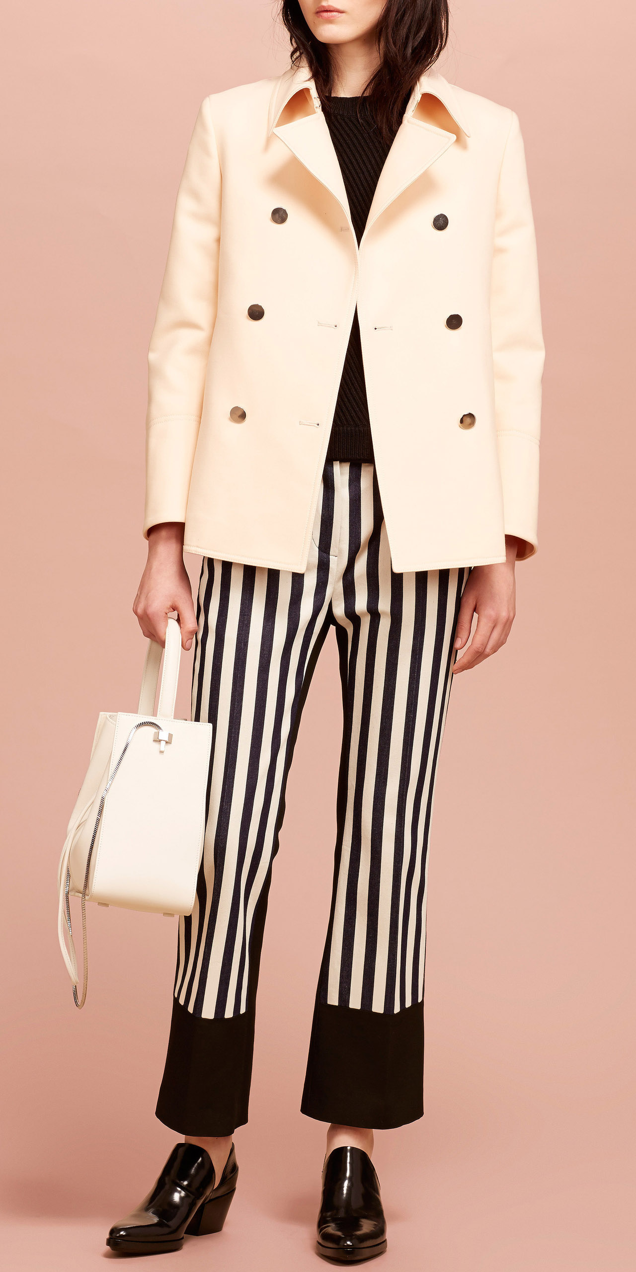 white-wideleg-pants-vertical-stripe-white-bag-black-sweater-black-shoe-loafers-white-jacket-coat-peacoat-fall-winter-lunch.jpg