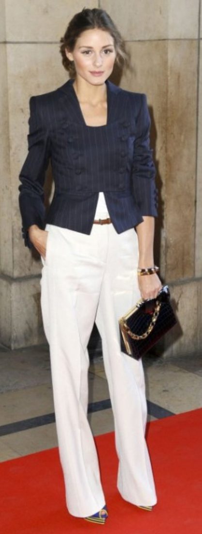 white-wideleg-pants-blue-navy-jacket-tan-bag-metallic-bun-belt-blue-shoe-sandalw-howtowear-style-fashion-fall-winter-pinstripe-oliviapalermo-hairr-work.jpg