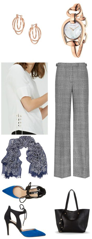 grayl-wideleg-pants-white-top-herringbone-blue-med-scarf-earrings-watch-black-bag-blue-shoe-pumps-howtowear-fashion-style-outfit-spring-summer-work.jpg