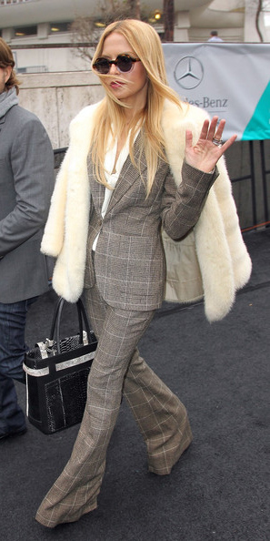 grayl-wideleg-pants-plaid-suit-white-jacket-coat-fur-sun-rachelzoe-grayl-jacket-blazer-fall-winter-blonde-lunch.jpg
