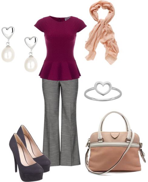 grayd-wideleg-pants-r-burgundy-top-peplum-gray-shoe-pumps-earrings-bracelet-peach-scarf-tan-bag-valentinesday-howtowear-fashion-style-outfit-spring-summer-work.jpg