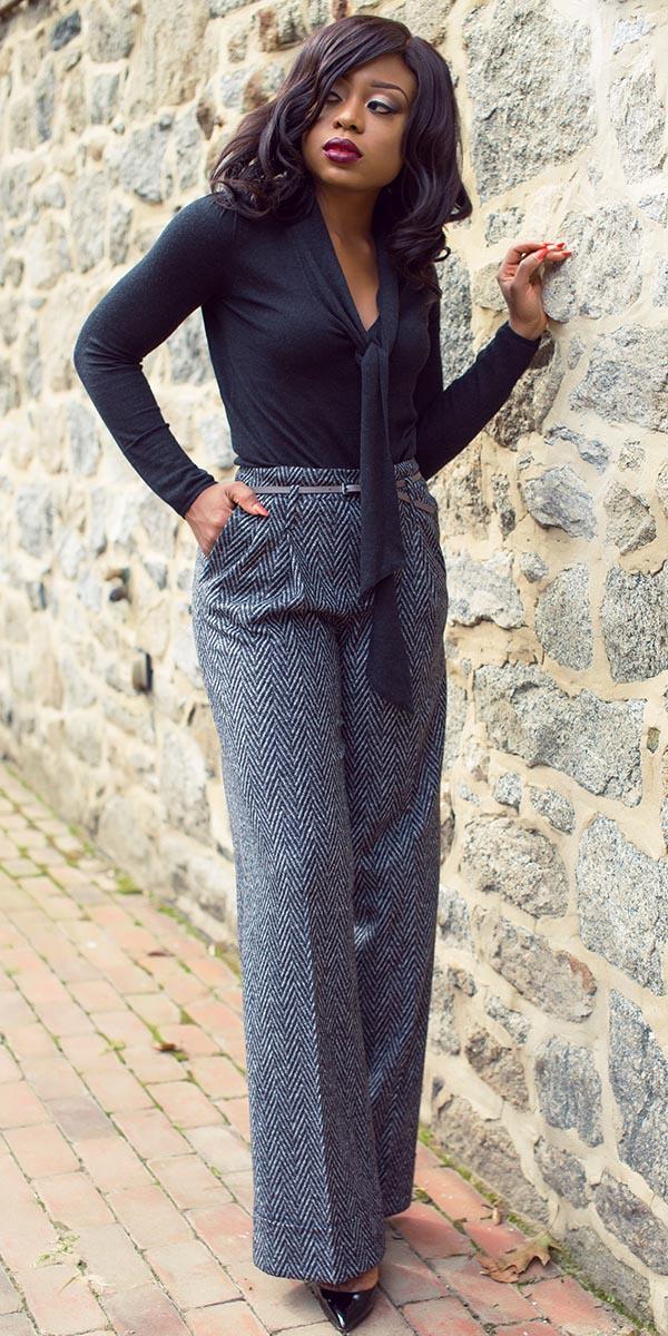 grayd-wideleg-pants-black-top-tie-belt-herringbone-black-shoe-pumps-trouser-fall-winter-brun-work.jpg
