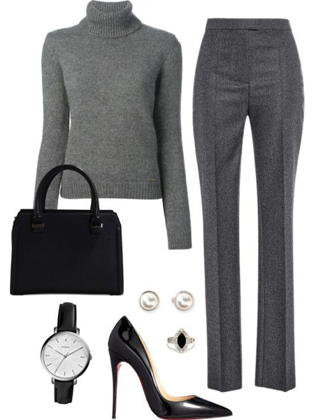 grayd-wideleg-pants-grayl-sweater-turtleneck-black-pumps-black-bag-studs-ring-howtowear-fashion-style-outfit-fall-winter-monochromatic-watch-work.jpg