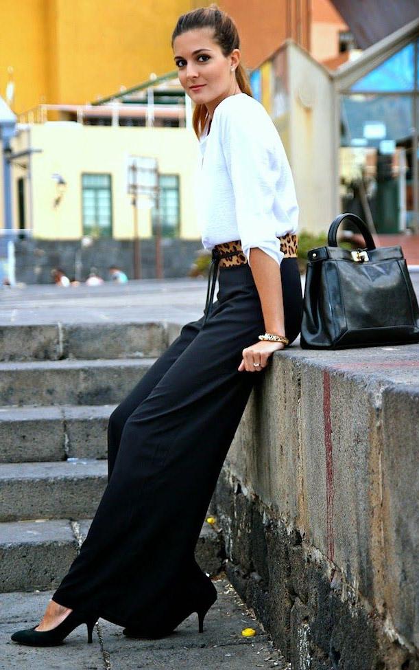 black-wideleg-pants-white-top-belt-leopard-print-pony-black-bag-black-shoe-pumps-fall-winter-hairr-work.jpg