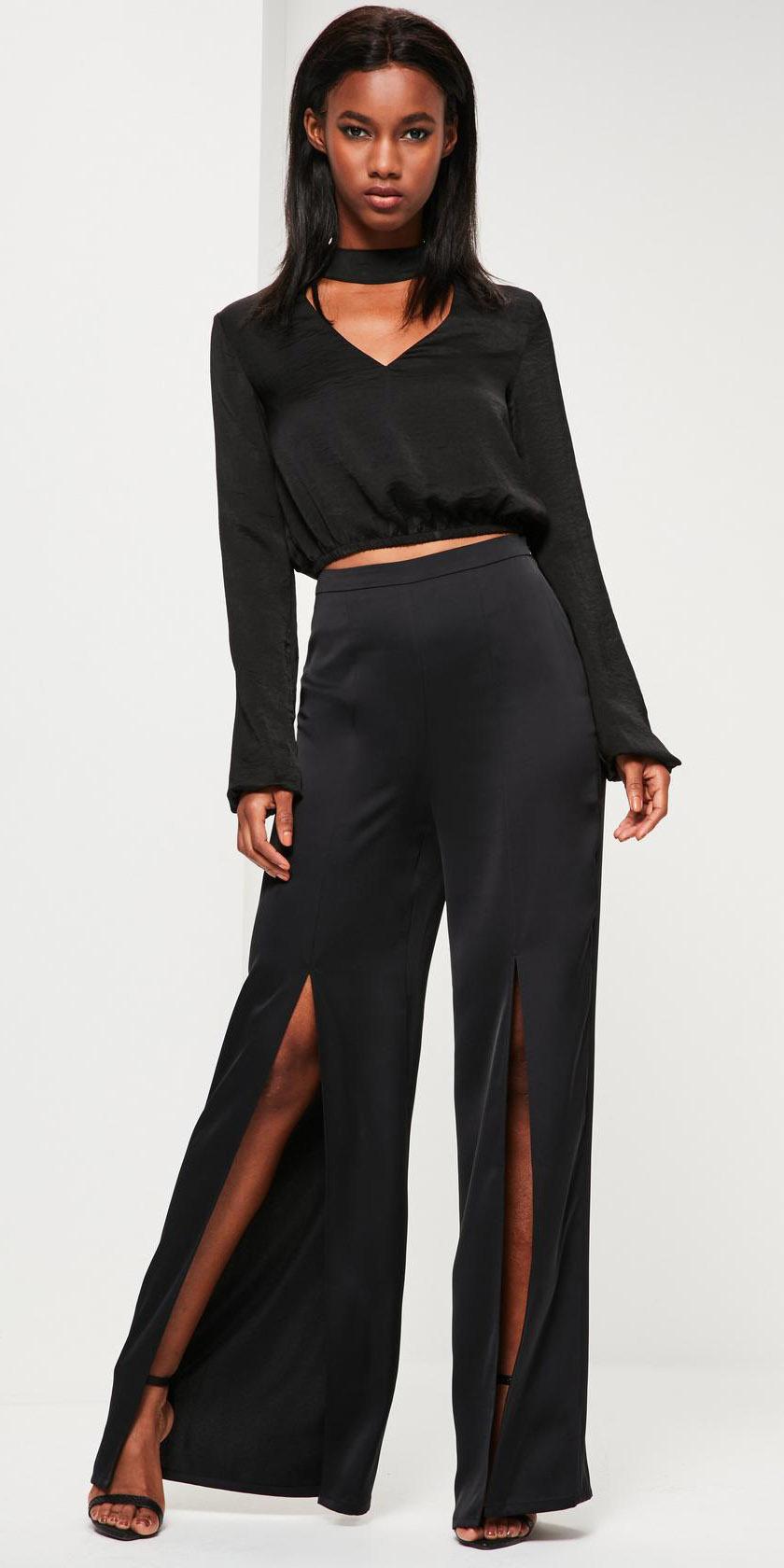 black-wideleg-pants-black-top-blouse-satin-mono-black-shoe-sandalh-slit-fall-winter-brun-dinner.jpg
