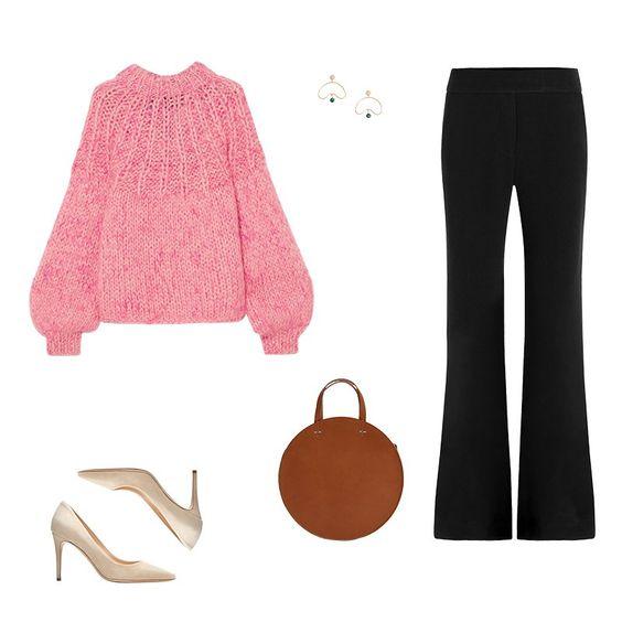 black-wideleg-pants-pink-light-sweater-earrings-white-shoe-pumps-cognac-bag-fall-winter-work.jpg