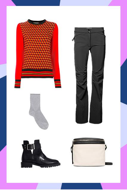 black-wideleg-pants-skiclothes-red-sweater-socks-black-shoe-booties-white-bag-fall-winter-weekend.jpg