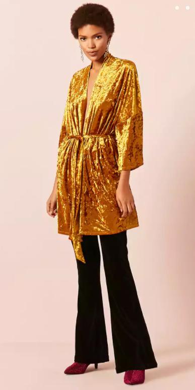black-wideleg-pants-burgundy-shoe-bootis-velvet-earrings-kimono-yellow-cardiganl-fall-winter-brun-dinner.jpg
