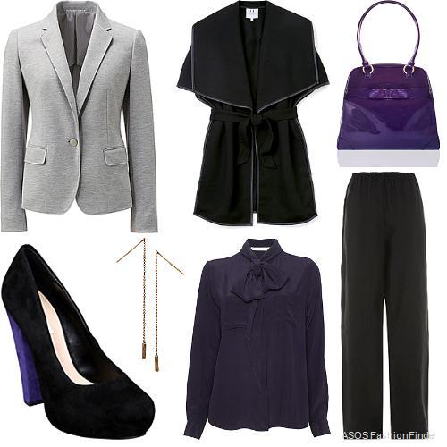 black-wideleg-pants-purple-royal-top-blouse-purple-bag-grayl-jacket-blazer-howtowear-fashion-style-outfit-fall-winter-bow-black-vest-black-shoe-pumps-earrings-work.jpg