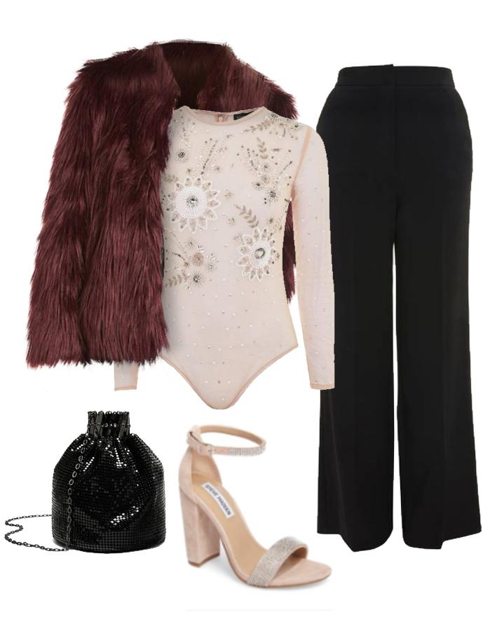 black-wideleg-pants-pink-light-top-bodysuit-jewel-burgundy-jacket-coat-fur-pink-shoe-sandalh-black-bag-fall-winter-nye-party-dinner.jpg