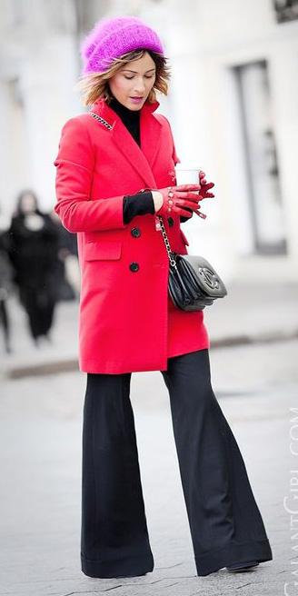 black-wideleg-pants-gloves-beanie-black-bag-red-jacket-coat-fall-winter-hairr-lunch.jpg