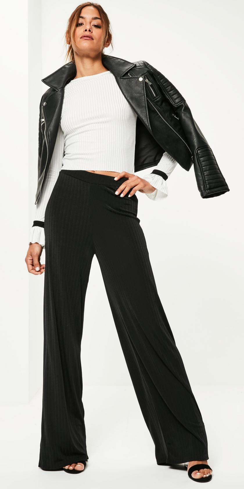 black-wideleg-pants-white-top-black-jacket-moto-black-shoe-sandalh-fall-winter-brun-dinner.jpg