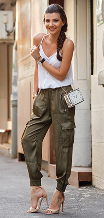 green-olive-joggers-pants-white-cami-white-bag-braid-tan-shoe-sandalh-cargos-howtowear-fashion-style-outfit-spring-summer-brun-lunch.jpg