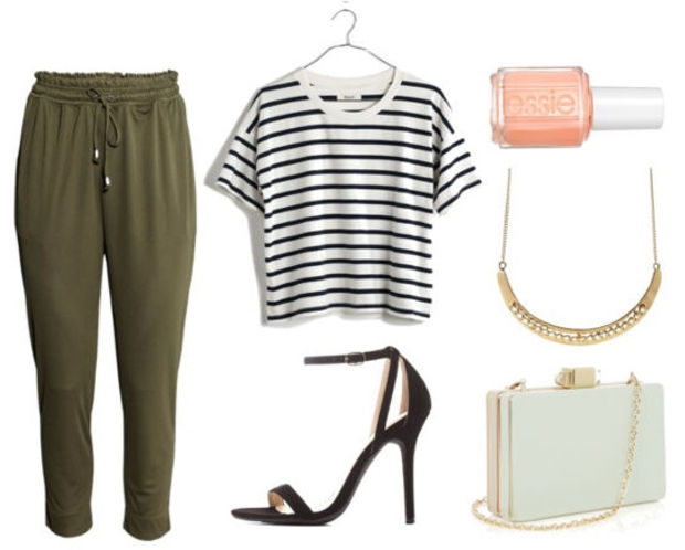 green-olive-joggers-pants-black-tee-stripe-crop-howtowear-fashion-style-outfit-spring-summer-black-shoe-sandalh-necklace-night-white-bag-nail-dinner.jpg