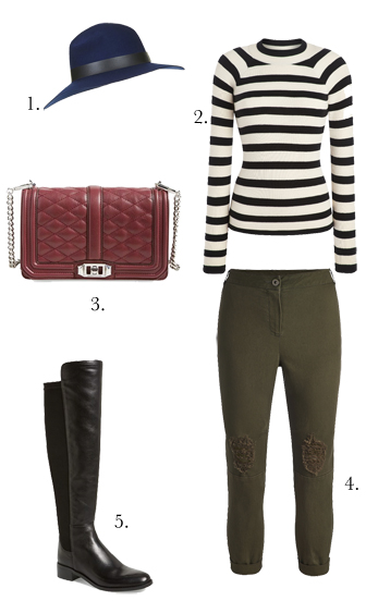 green-olive-joggers-pants-black-sweater-stripe-black-shoe-boots-hat-cognac-bag-howtowear-fashion-style-outfit-fall-winter-lunch.jpg