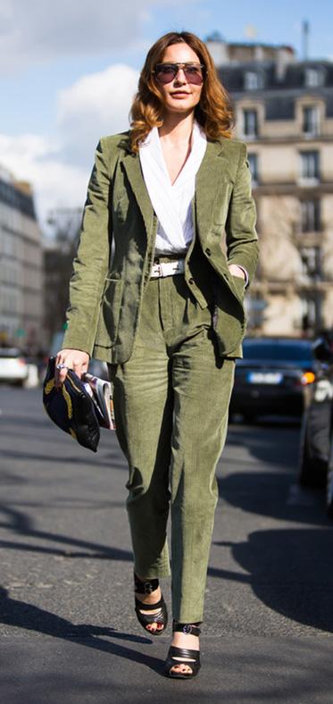 green-olive-joggers-pants-green-olive-jacket-blazer-suit-white-top-black-shoe-sandalh-sun-fall-winter-hairr-dinner.jpg