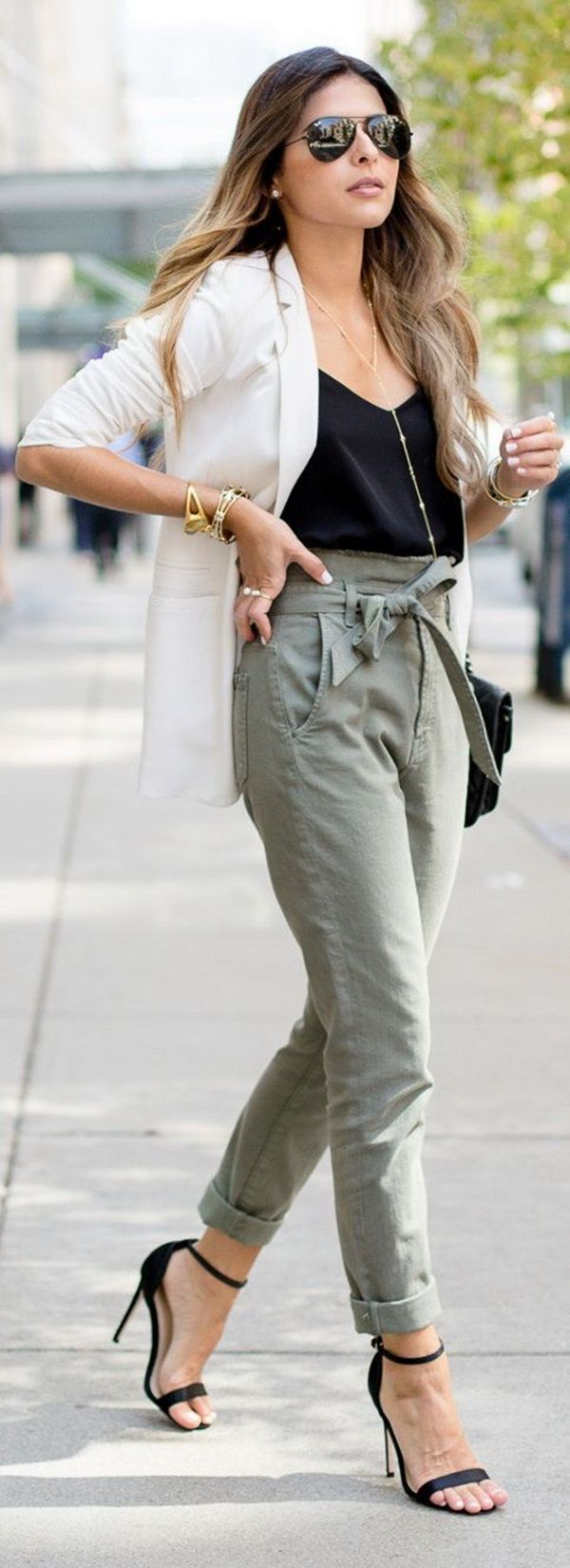 green-olive-joggers-pants-black-cami-white-jacket-blazer-black-shoe-sandalh-sun-black-bag-howtowear-fashion-style-outfit-spring-summer-hairr-work.jpg