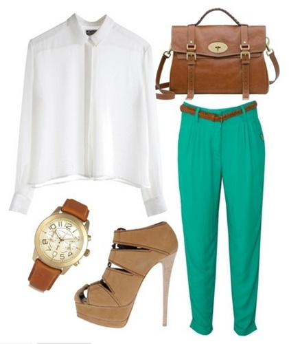 green-emerald-joggers-pants-white-top-blouse-belt-tan-shoe-sandalh-cognac-bag-watch-howtowear-fashion-style-outfit-spring-summer-lunch.jpg