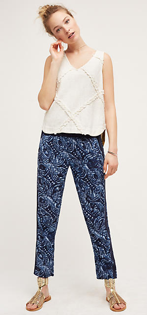 blue-navy-joggers-pants-zprint-white-top-bun-tan-shoe-sandals-wear-style-fashion-spring-summer-blonde-weekend.jpg