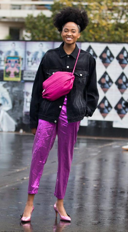 purple-royal-joggers-pants-pink-bag-black-jacket-jeans-brun-pink-shoe-pumps-holiday-drinkswithfriends-fall-winter-dinner.jpg